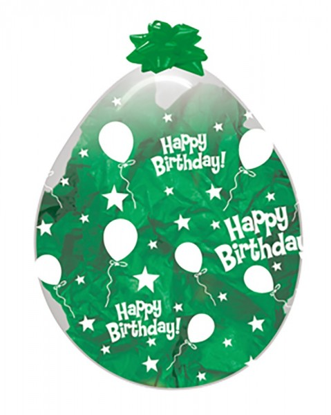 "Verpackungsballons Happy Birthday Ballons and Stars 45cm 18"" Sempertex Stuffer"