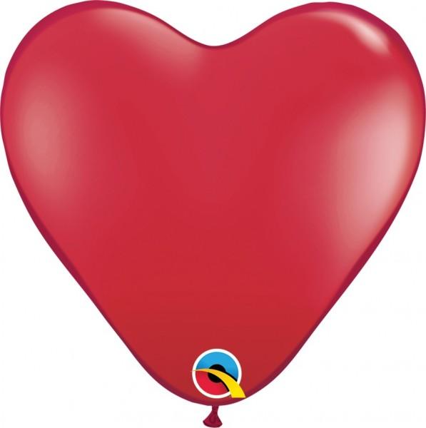 BallonHerz Jewel Ruby Red (Rot) Latexluftballons - 37,5cm