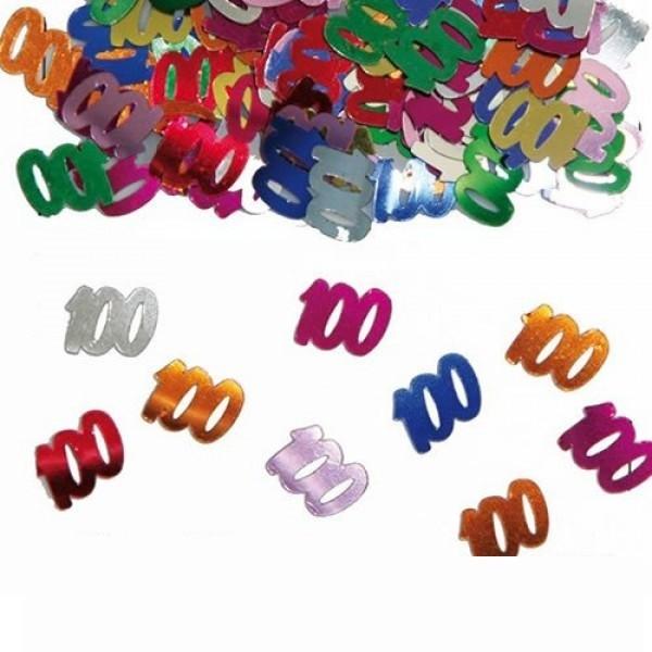 Konfetti Zahl 100 Folienkonfetti Streuartikel