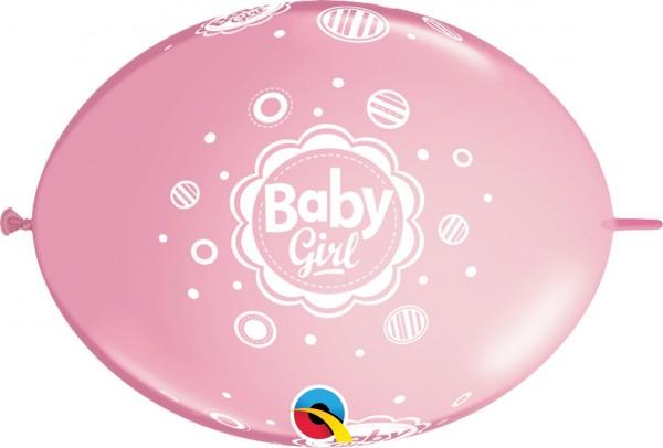 "QuickLink Baby Girl 30cm 12"" Latex Luftballons Qualatex"