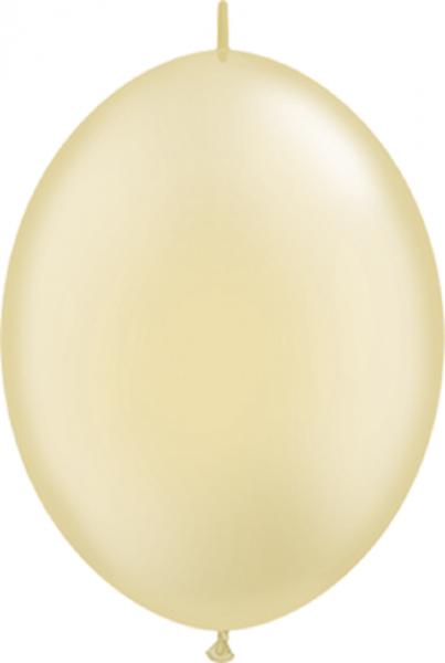 "QuickLink Pearl Ivory (Elfenbein) 30cm 12"" Latex Luftballons Qualatex"