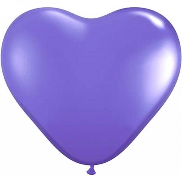 "Qualatex Herz Fashion Purple Violet (Lila) 27,5cm 11"" Latex Luftballons"