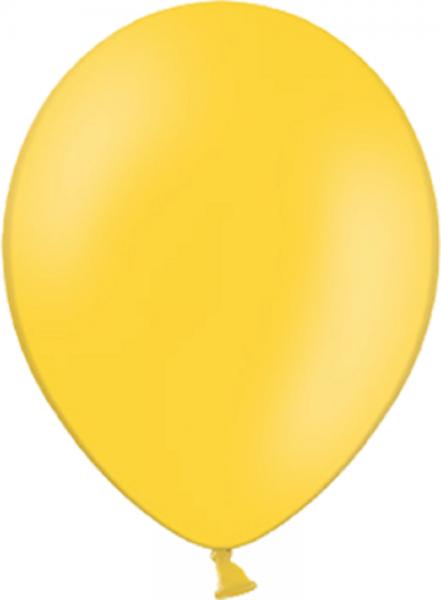 "Belbal 117 Pastel Bright Yellow Gelb 100 St. 27,5cm 11"" Latex Luftballons"
