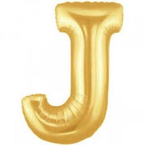 Buchstaben J gold Folienballon