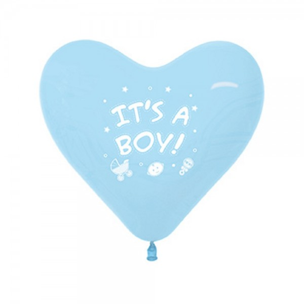 "It´s a Boy Herz Fashion Pastel Blue 30cm 12"" Latex Luftballons Sempertex"