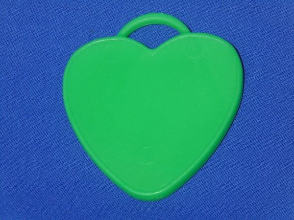 Luftballon Gewicht Herz-förmig in grün