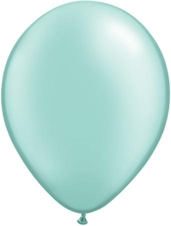 Latex Luftballons Pearl Mint Green (Mintgrün) 100St. - 27,5 cm