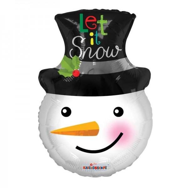Schneemann Kopf mit Karotte Folienballon