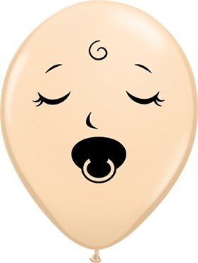 "Sleeping Baby Faces Fashion Blush 12,5cm 5"" Latex Luftballons Qualatex"