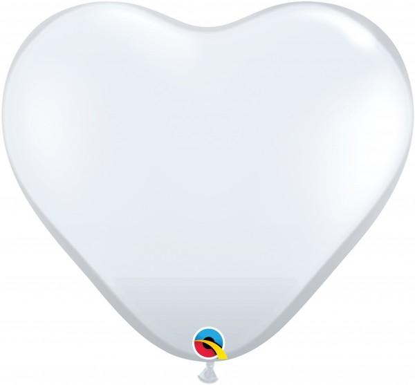 "Qualatex Herz Jewel Diamond Clear 90cm 36"" Riesenballon"