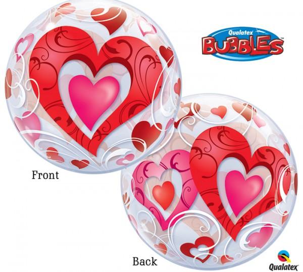 "Qualatex Bubble Herz 22"" 56cm Luftballon"