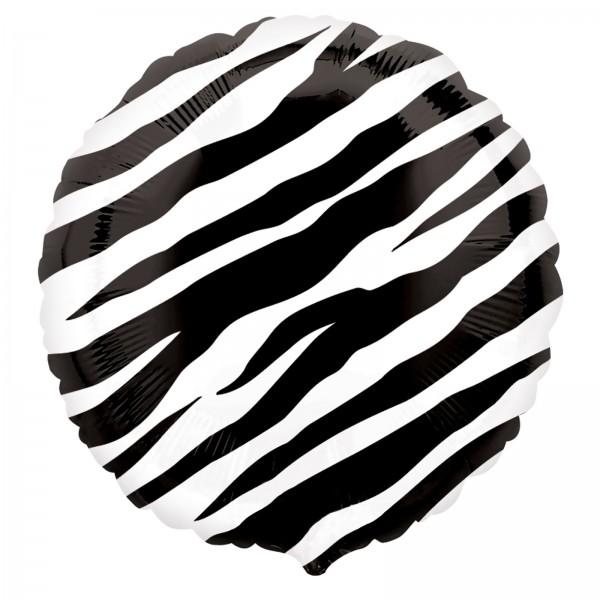 Zebra Druck Folienballon - 45cm