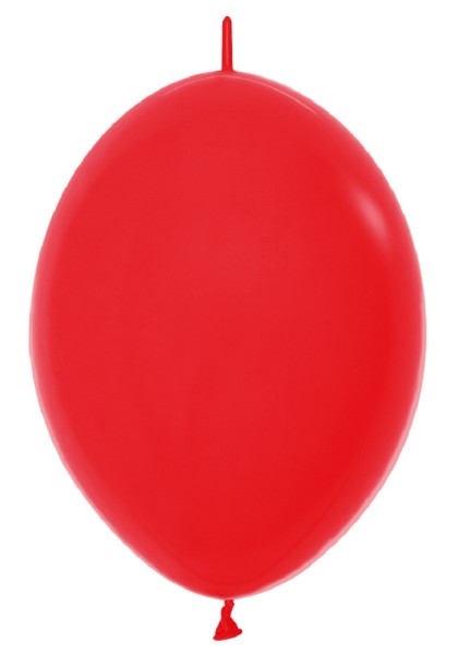 "Link o Loon 015 Fashion Red (Rot) 30cm 12"" Latex Luftballons Sempertex"
