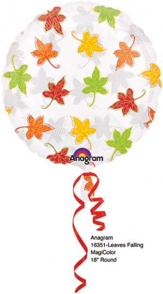 Folienballon See- Thru Leaves Falling - 45 cm