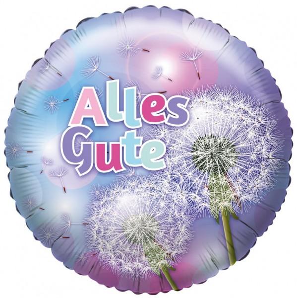 Alles Gute Pusteblume Folienballon - 45cm