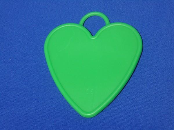 Luftballon Gewicht Herz-förmig groß in grün