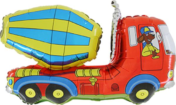 """Cement Truck Folienballon 75cm 30"""""""