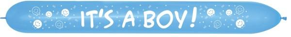 Link o Loon 660 It´s a Boy Blue 040 Latex Luftballons Sempertex