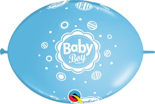 "QuickLink Baby Boy 30cm 12"" Latex Luftballons Qualatex"
