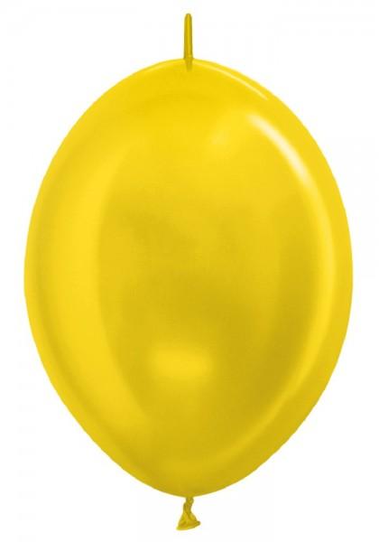 "Link o Loon 520 Metallic Pearl Yellow (Gelb) 30cm 12"" Latex Luftballons Sempertex"