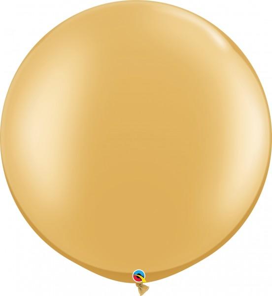 "Qualatex Metallic Gold 75cm 30"" Latex Luftballons"