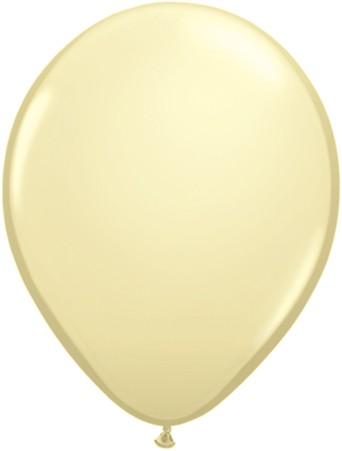 """Qualatex Fashion Ivory Silk (Elfenbein) 27,5cm 11"""" Latex Luftballons"""