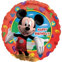 Happy Birthday Mickey Maus Folienballon - 46cm