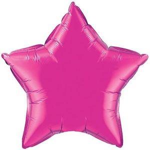 Stern magenta Folienballon - 50cm - Qualatex