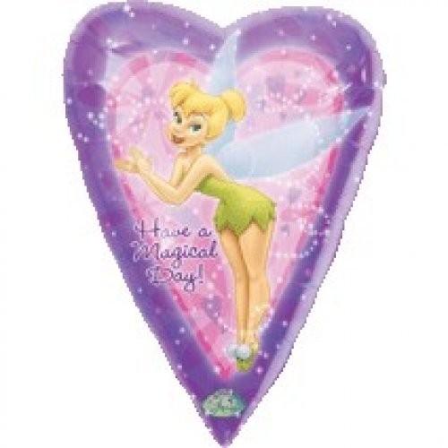Tinkerbell Herz Folienballon - 86cm