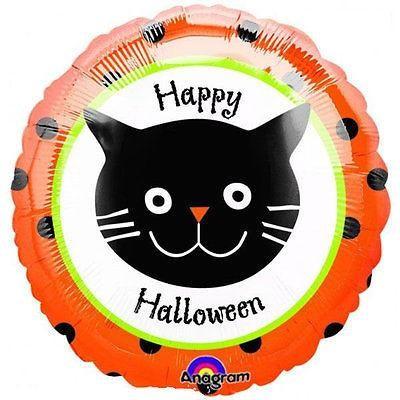 Folienballon Halloween Dots Cat - 45 cm