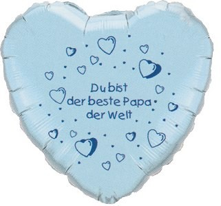 Bester Papa Folienballon Herz - 45cm