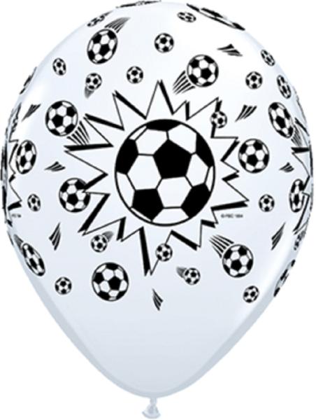 "Soccer Balls Fussball 12,5 cm 5"" Latex Luftballons Qualatex"