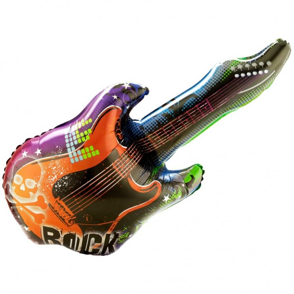 Rock Star Gitarre Folienballon - 105cm