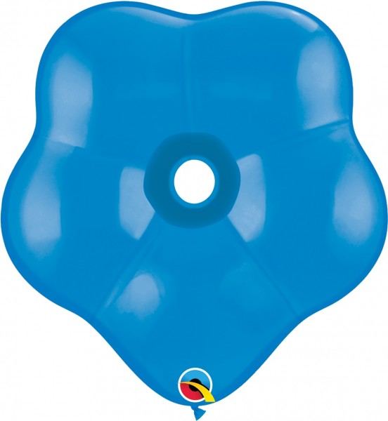 "GEO Blossom Standard Dark Blue (Blau) 41cm 16"" Qualatex Luftballons"