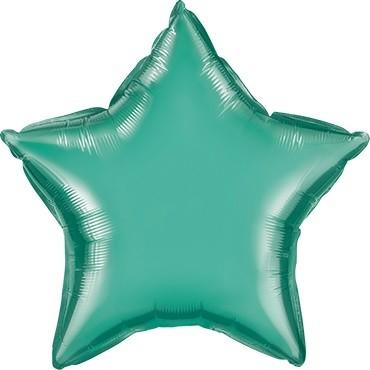 Folienballon Stern Chrome Green (grün) - 50 cm