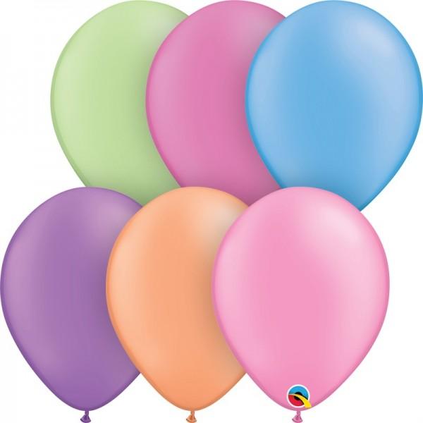 "Qualatex Assortment Neon (bunt gemischt) 27,5cm 11"" Latex Luftballons"