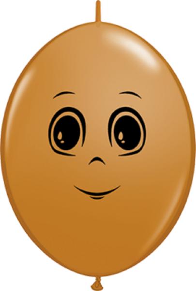 "QuickLink Masculine Face Mocha Brown 30cm 12"" Latex Luftballons Qualatex"