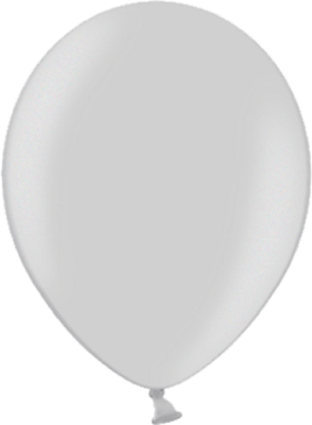 "Belbal 061 Metallic Silver Silber 12,5cm 5"" Latex Luftballons"