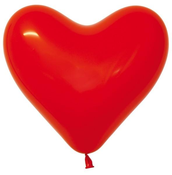 "Sempertex Herz 015 Fashion Red (Rot) 40cm 16"" Latex Luftballons"