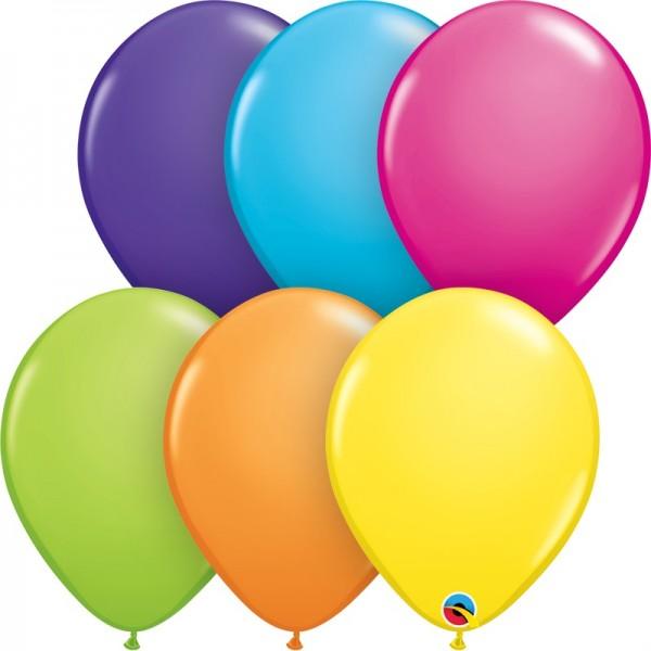 "Qualatex Assortment Tropical (bunt gemischt) 27,5cm 11"" Latex Luftballons"