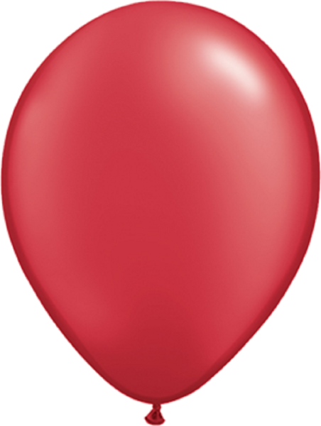 "Qualatex Pearl Ruby Red (Rot) 40cm 16"" Latex Luftballons Qualatex"
