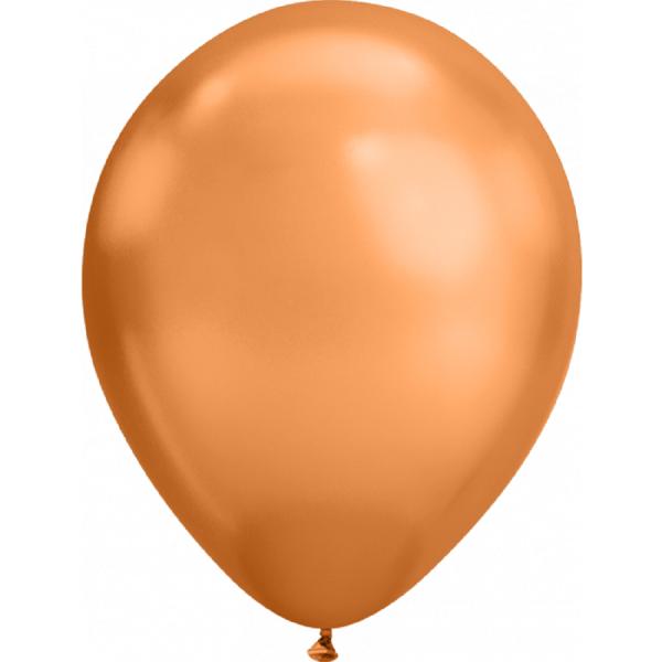 Qualatex Chrome Copper (Kupfer) 18cm 7'' Latex Luftballons 100 Stück
