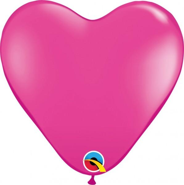 """Qualattex Herz Wild Berry Pink 37,5cm 15"""" Ballon"""