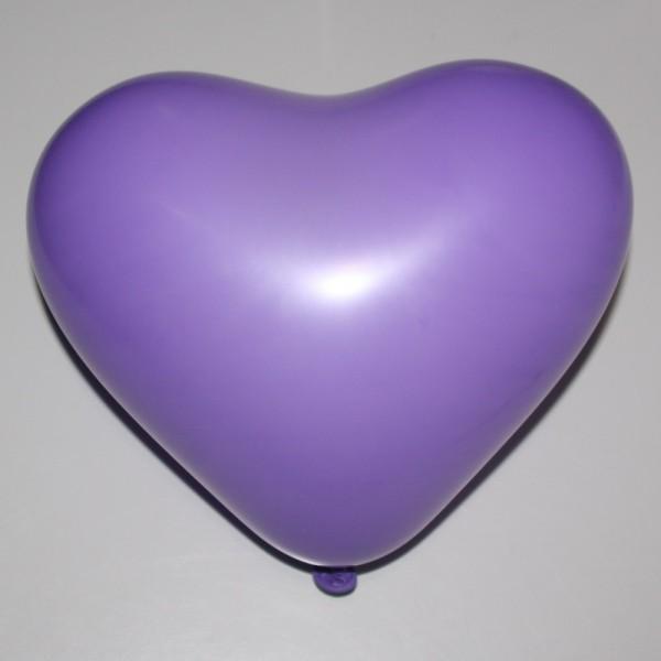 Ballonherz Lila 12 inch 30 cm