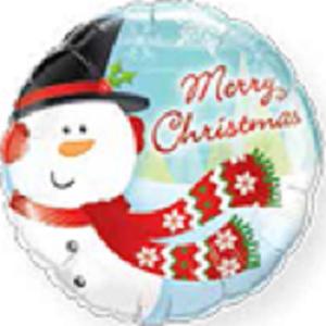 Schneemann Merry Christmas Folienballon