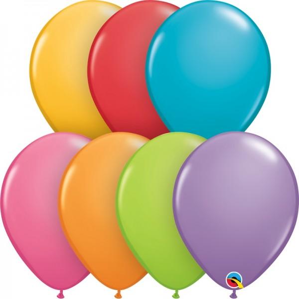 "Qualatex Assortment Festive (bunt gemischt) 27,5cm 11"" Latex Luftballons"
