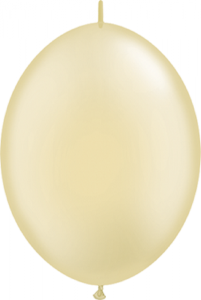 "QuickLink Pearl Ivory (Elfenbein) 15cm 6"" Latex Luftballons Qualatex"