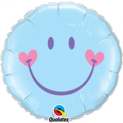 Sweet Smile blau Folienballon - 45cm