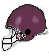 Football Purple Helm Folienballon - 76cm