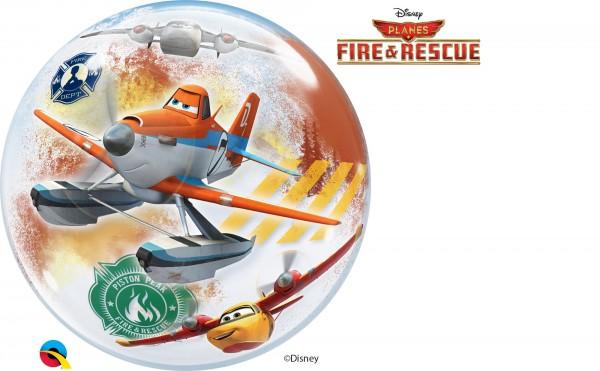 Qualatex Bubble Luftballons Planes Fire und Rescue